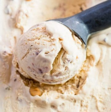 Salted Butterscotch No Churn Ice Cream recipe - www.platingpixels.com