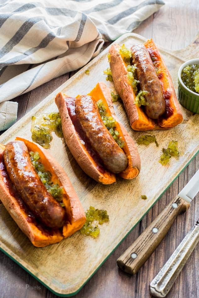 Sweet Potato Sausage Dogs