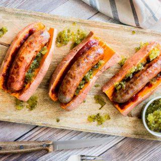 Sweet Potato Sausage Dogs (Gluten Free)
