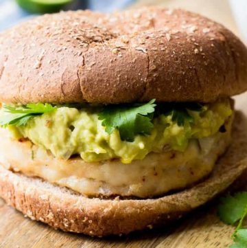 Wild Pollock Fish Burgers with Mango Guacamole recipe - www.platingpixels.com