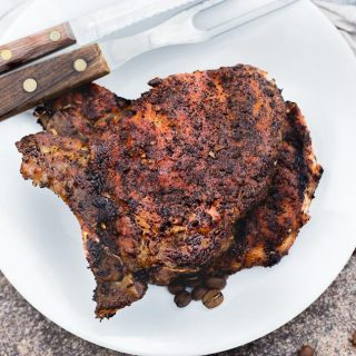 Cowboy Coffee Rub Grilled Pork Chops