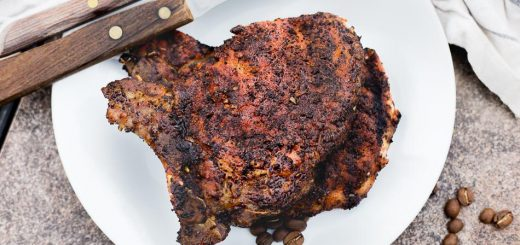 Cowboy Coffee Rub Grilled Pork Chops recipe - www.platingpixels.com