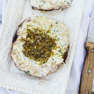 Creamy Ricotta Stuffed Portobello Mushrooms