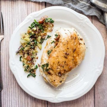 Apricot and Spinach Stuffed Chicken Breasts - www.platingpixels.com