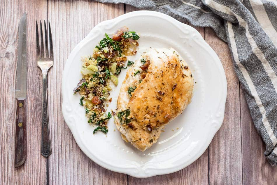 Apricot and Spinach Stuffed Chicken Breasts