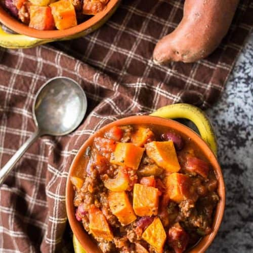 Healthy Roasted Sweet Potato Chili
