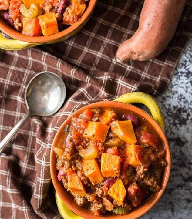 Roasted Sweet Potato Chili recipe - www.platingpixels.com
