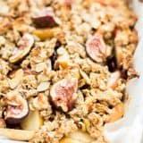 Fall Harvest Fig Pear and Apple Crisp recipe - www.platingpixels.com