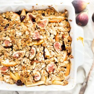Fall Harvest Fig Pear and Apple Crisp