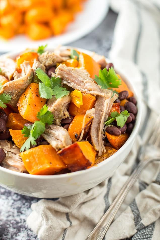 Slow Cooker Sweet Potato Carnitas Bowls recipe - www.platingpixels.com