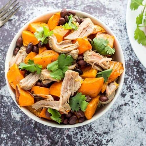 Slow Cooker Sweet Potato Carnitas Bowls