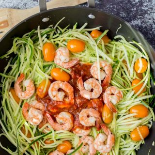 Tuscan Style Sardine and Shrimp Zoodles