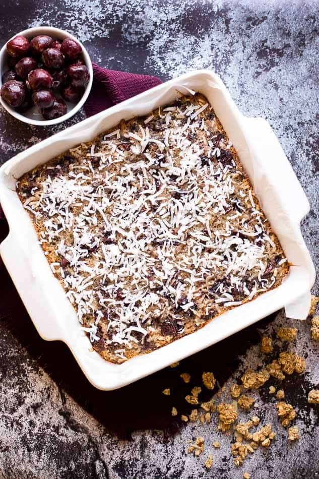 Chewy Cherry Orange Oatmeal Bars recipe - www.platingpixels.com