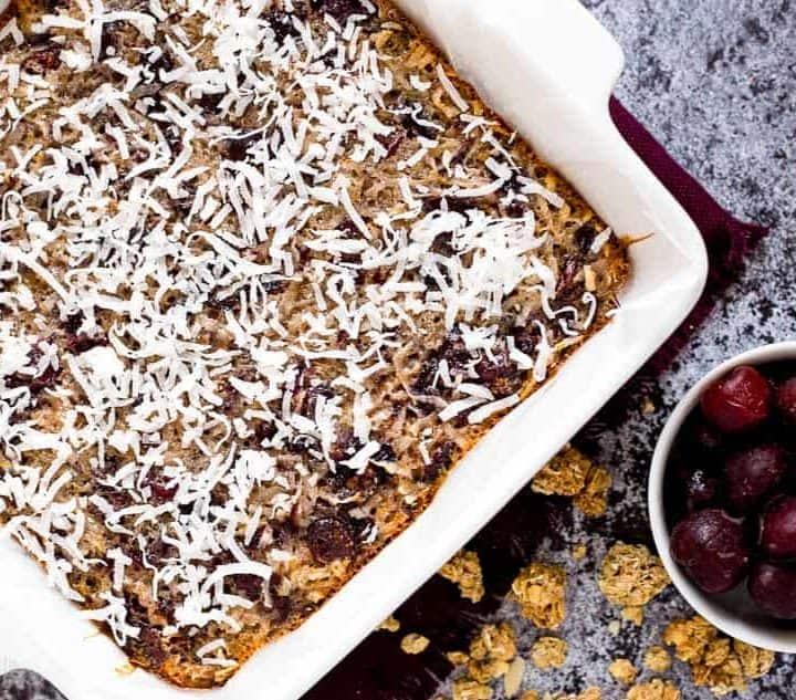 Chewy Cherry Orange Oatmeal Bars recipe - www.platingpixels.com
