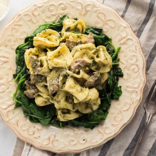Steak Pesto Tortellini Pasta