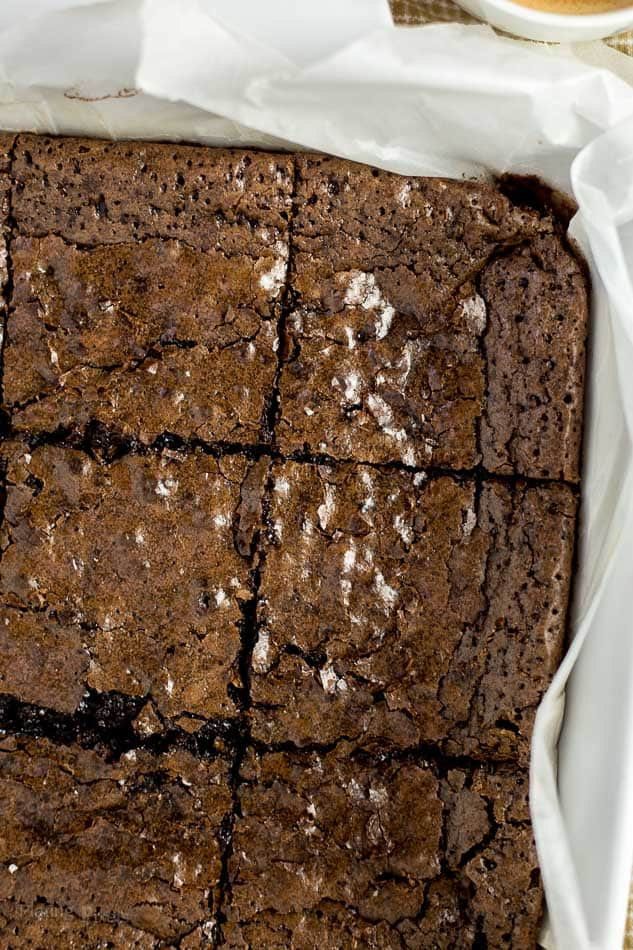 Dark Chocolate Espresso Brownies recipe - www.platingpixels.com