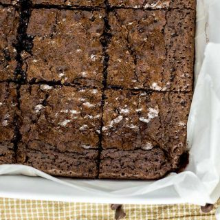 Dark Chocolate Espresso Brownies