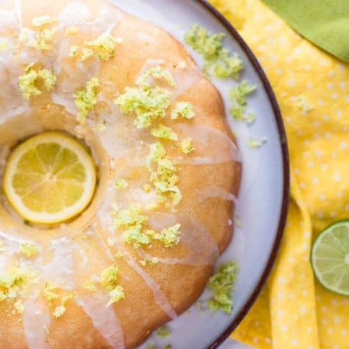 From Scratch Lemon Lime Bundt Cake recipe - www.platingpixels.com