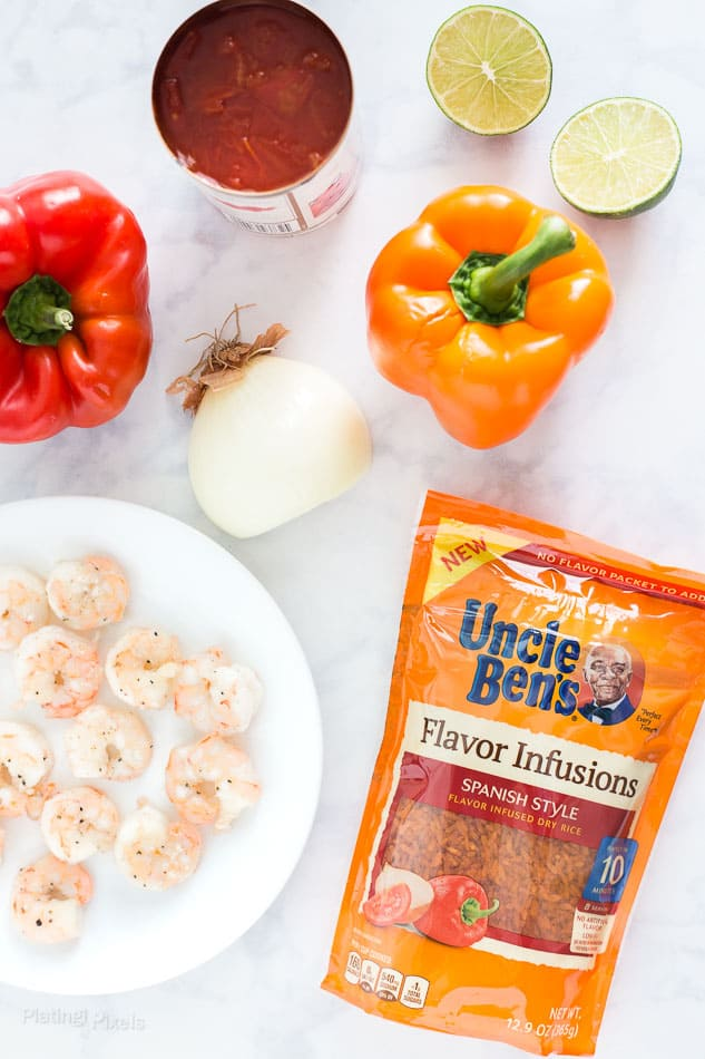 Easy Shortcut Shrimp Paella recipe - www.platingpixels.com