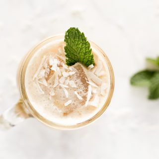 Iced Caramel Coconut Mint Latte