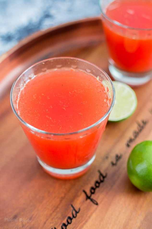 Homemade Clamato Michelada recipe - www.platingpixels.com
