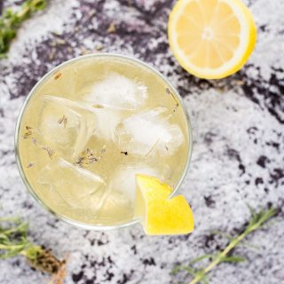Lavender Lemon Sparkler Cocktail