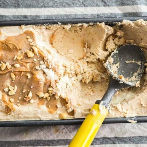 No Churn Peanut Butter Ice Cream recipe - www.platingpixels.com