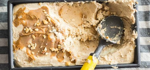 No Churn Peanut Butter Ice Cream recipe - www.platingpixels.com