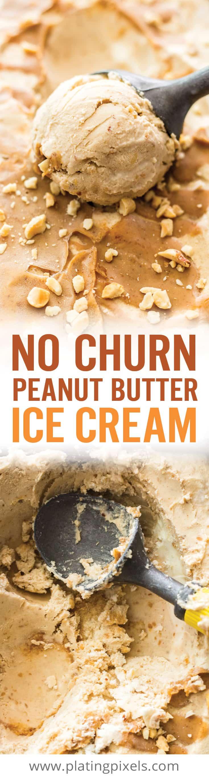 Peanut Butter Ice Cream (No-Churn)