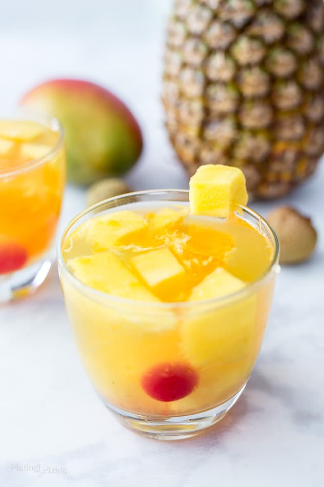 Tropical Passion Fruit Sangria recipe - www.platingpixels.com