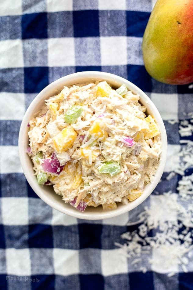 Tropical Themed Chicken Salad (Gluten-Free) recipe - www.platingpixels.com