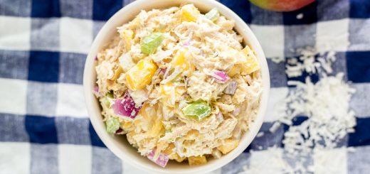 Tropical Themed Chicken Salad (Gluten-Free) recipe - www.platingpixels.com