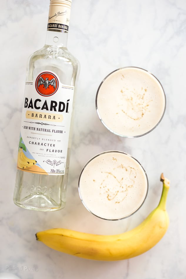 Coconut and Caramel Banana Daiquiri recipe - www.platingpixels.com