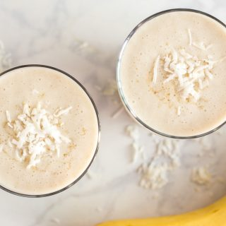 Coconut and Caramel Banana Daiquiri