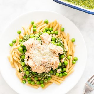 Easy Salmon Pesto Pasta