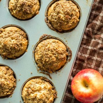 Lightened Up Apple Streusel Muffins recipe - www.platingpixels.com
