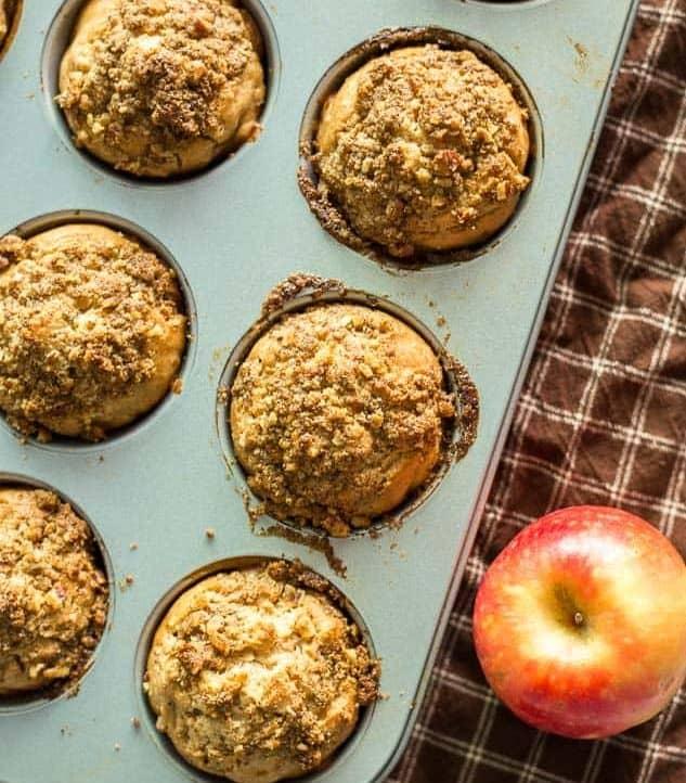 Lightened Up Apple Streusel Muffins recipe - www.platingpixels.com