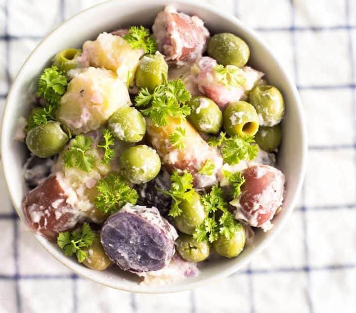 Pickeled Green Olive and Potato Salad recipe - www.platingpixels.com