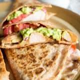 Pork Quesadillas with Homemade Guacamole recipe - www.platingpixels.com