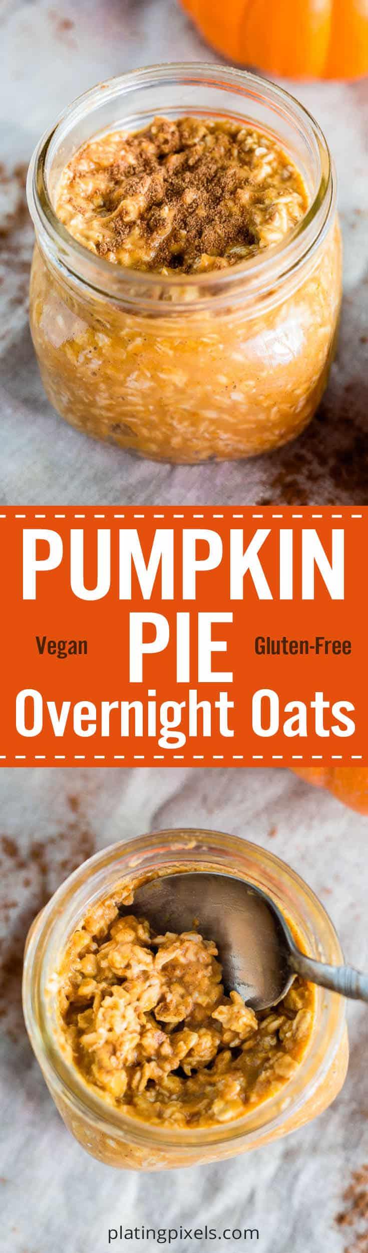 Vegan Pumpkin Pie Overnight Oats