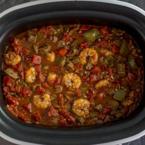 One Pot Shrimp and Sausage Jambalaya recipe - platingpixels.com