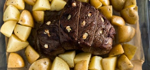 Red Wine Marinated Prime Rib with Potatoes recipe - platingpixels.com