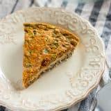 Chorizo and Cheddar Quiche with Quinoa Crust recipe - platingpixels.com