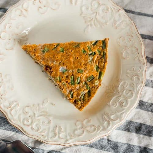 Chorizo and Cheddar Quiche with Quinoa Crust