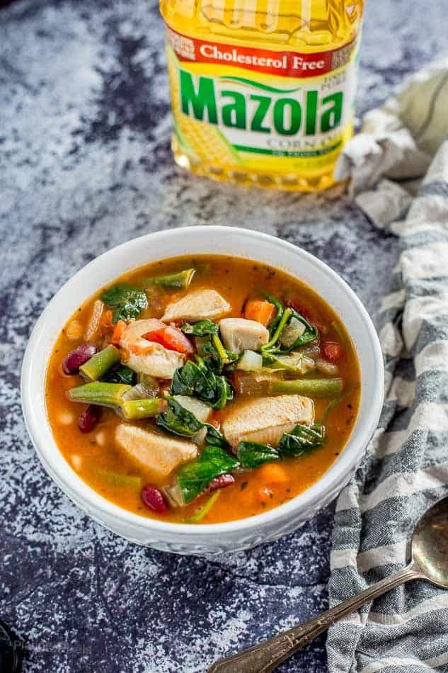 One Pot Chicken Minestrone Soup recipe - platingpixels.com