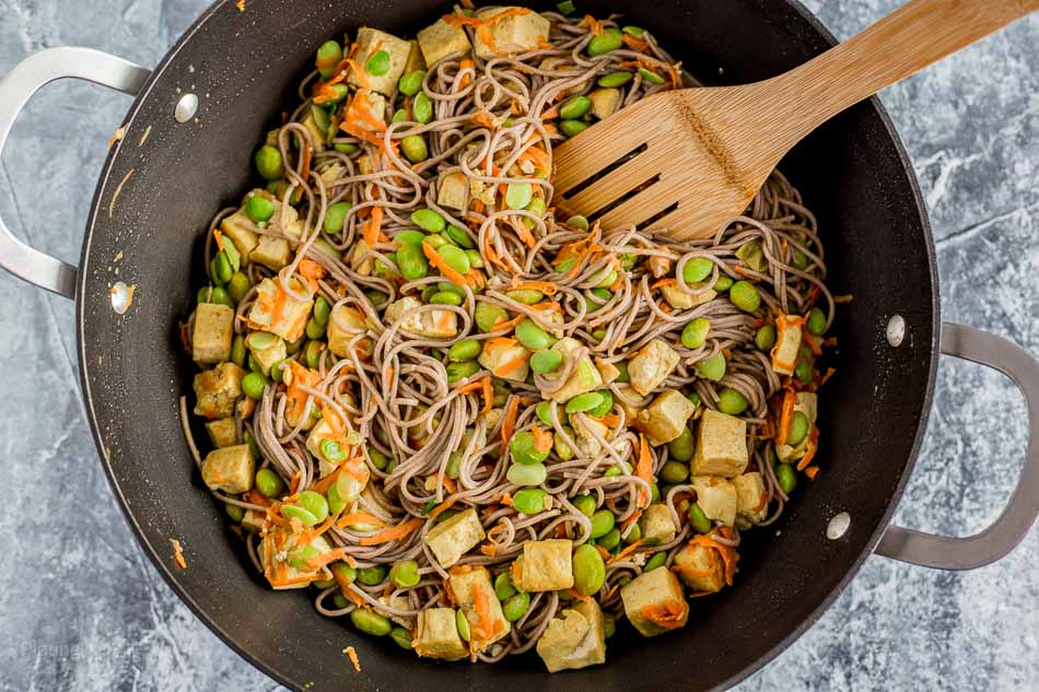 Vegan Coconut Curry Tofu Stir-Fry recipe - platingpixels.com