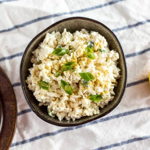 Creamy Rice and Crab Dip Appetizer