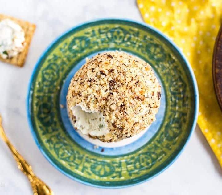 Lemon Herb Goat Cheese Ball recipe - platingpixels.com
