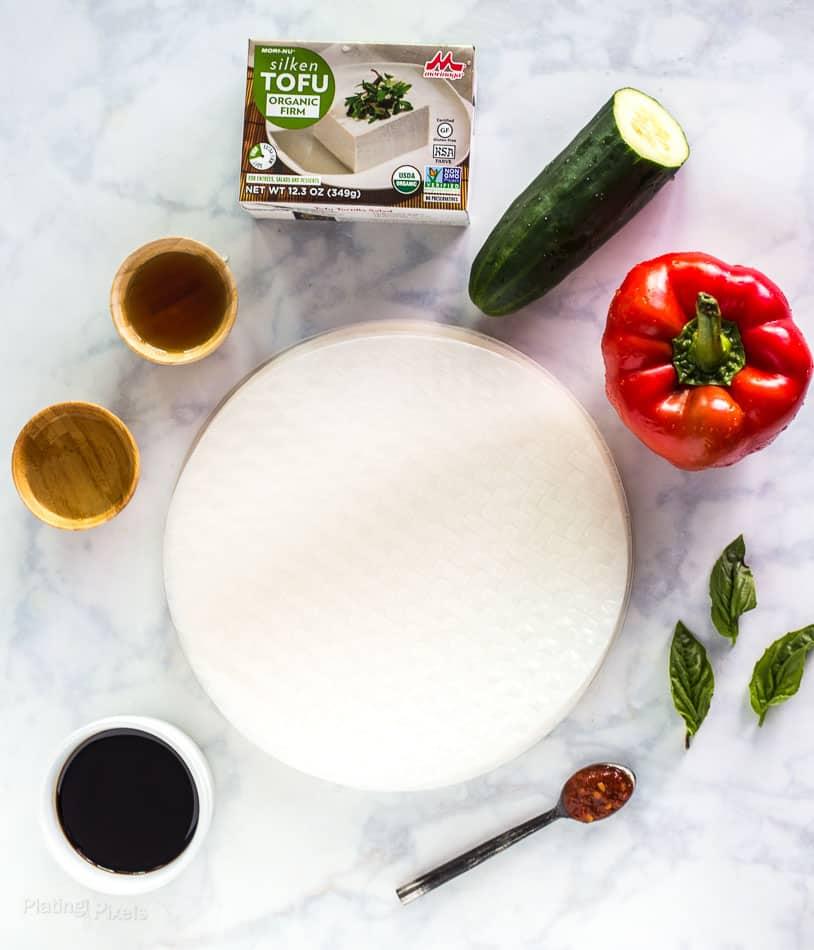 Vegan Vietnamese Tofu Spring Rolls - platingpixels.com