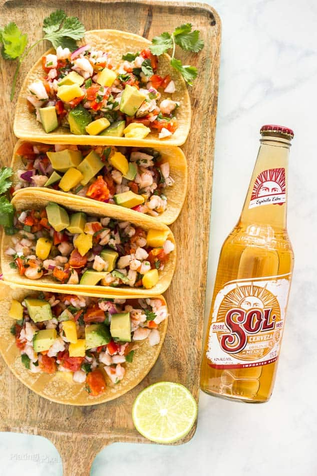 Tropical Shrimp Ceviche Tacos - platingpixels.com
